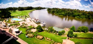 The view from today's Riviera on Vaal Hotel's fifth floor