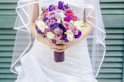 Play around with colour on your wedding day