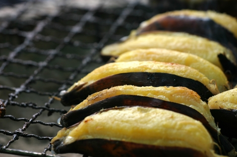 Bananas on the grill - a delicious treat