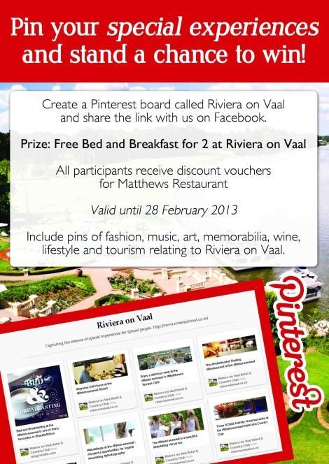 Pinterest Competition at Riviera on Vaal