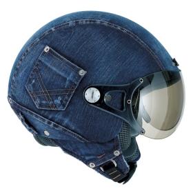 Denim Biker Helmet
