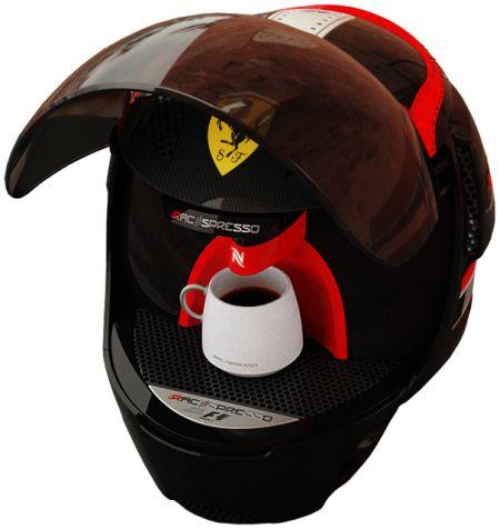 Coffee making helmet