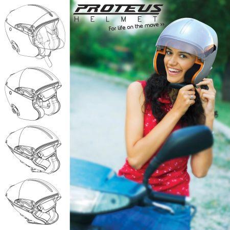 Foldable Biker Helmet