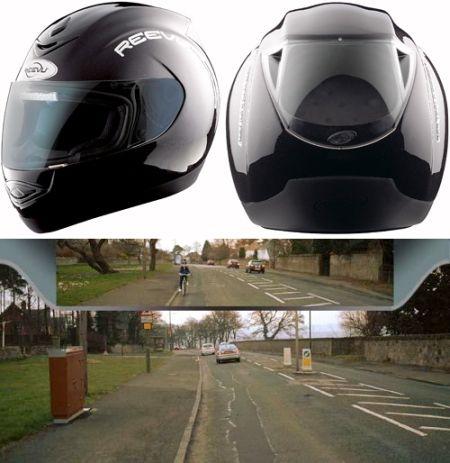 Rear view helmet