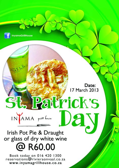 St Patrick's Day at Inyama Grill House