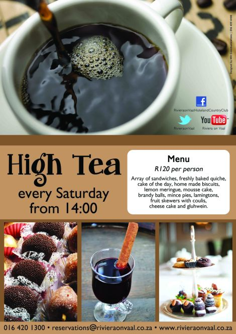 High Tea at the Riviera on Vaal