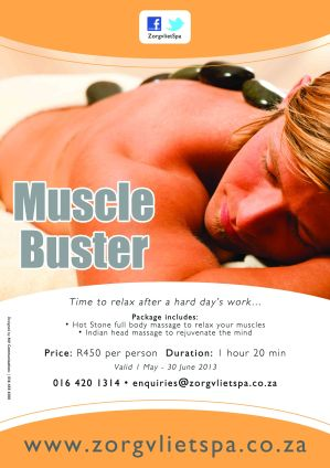 Zorgvliet Spa's Muscle Buster