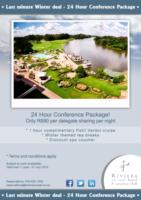 Last Minute Winter Deal - 24 Hour Conference Package