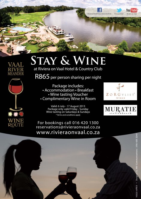 Stay and Wine at Riviera on Vaal