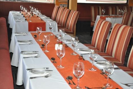 Setup in the Petit Verdot Floating Restaurant