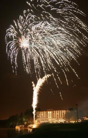 Fireworks at the Riviera on Vaal Hotel