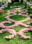 Scatter Rose Petals into a Patterned Design