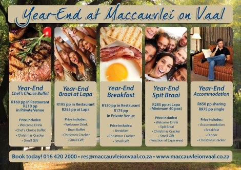 Year End Functions at Maccauvlei