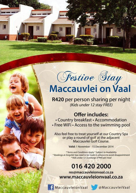 Festive Stay at Maccauvlei on Vaal
